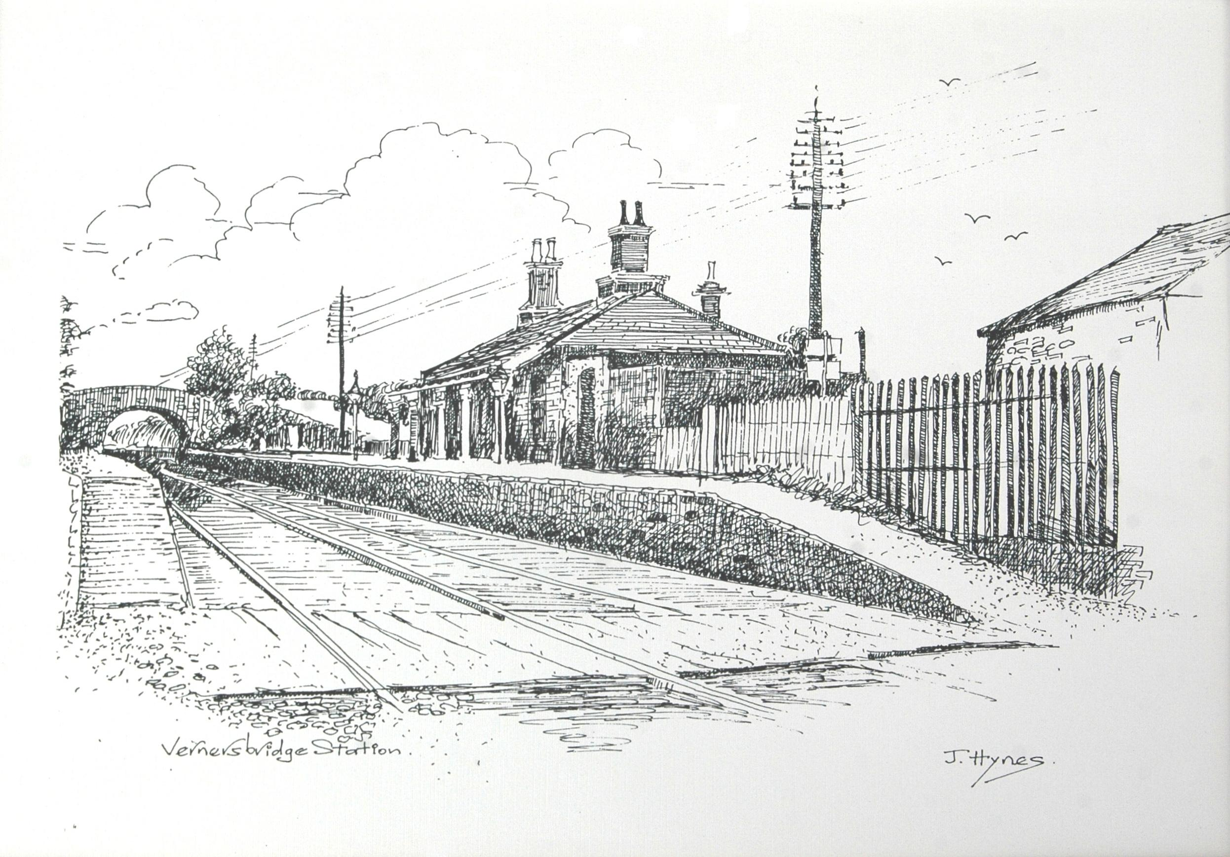 Drawn railroad train station Train station Drawing jpgTrain Description