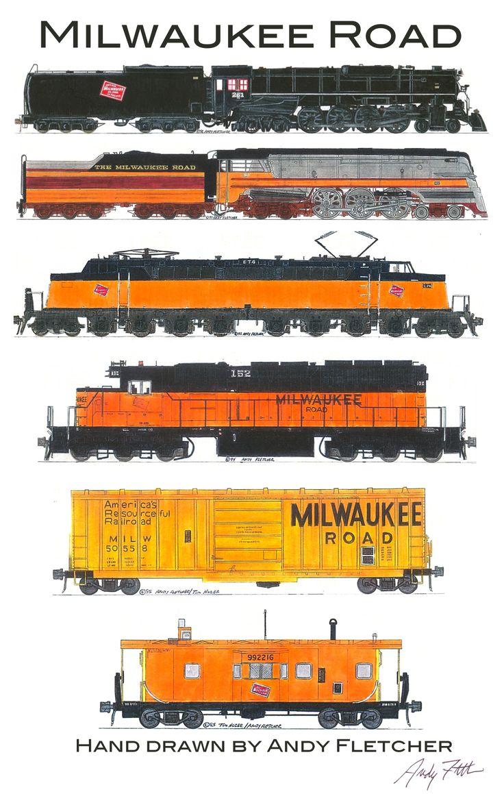 Drawn railroad transportation Fletcher Andy Pinterest 6 698