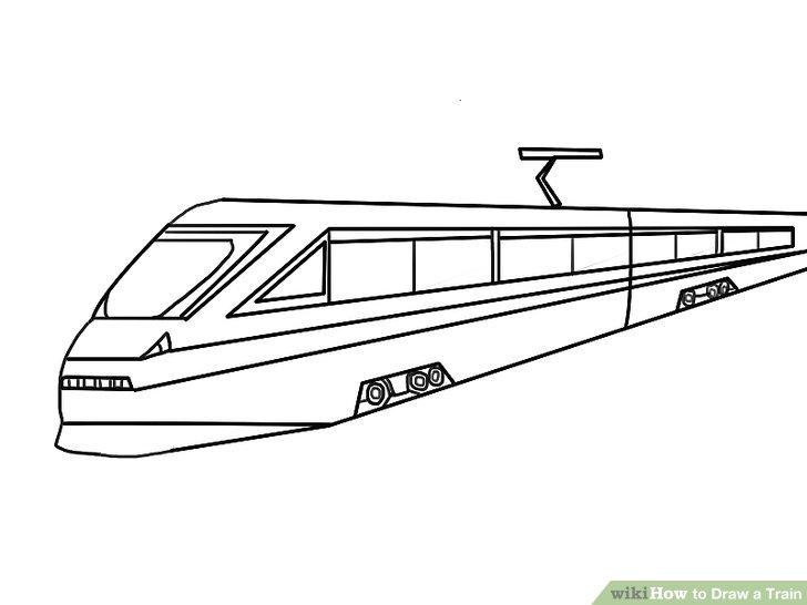 Drawn railroad transportation Draw Train Ways Draw a