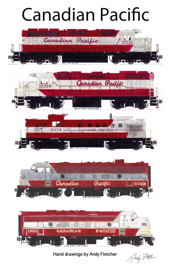 Drawn railroad transportation Drawings railroads in scheme Pacific