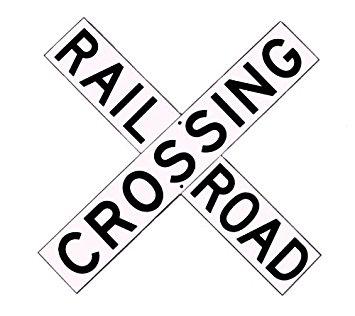 Drawn railroad ukg Crossbuck Aluminum Railroad Sign 060