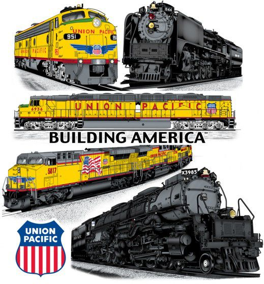 Drawn railroad union pacific train Union  Pacific 20+ Pinterest