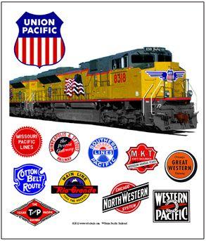 Drawn railroad union pacific train Pinterest Union Union  Railroads