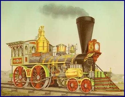 Drawn railroad vintage train Trains railroad prints Antique