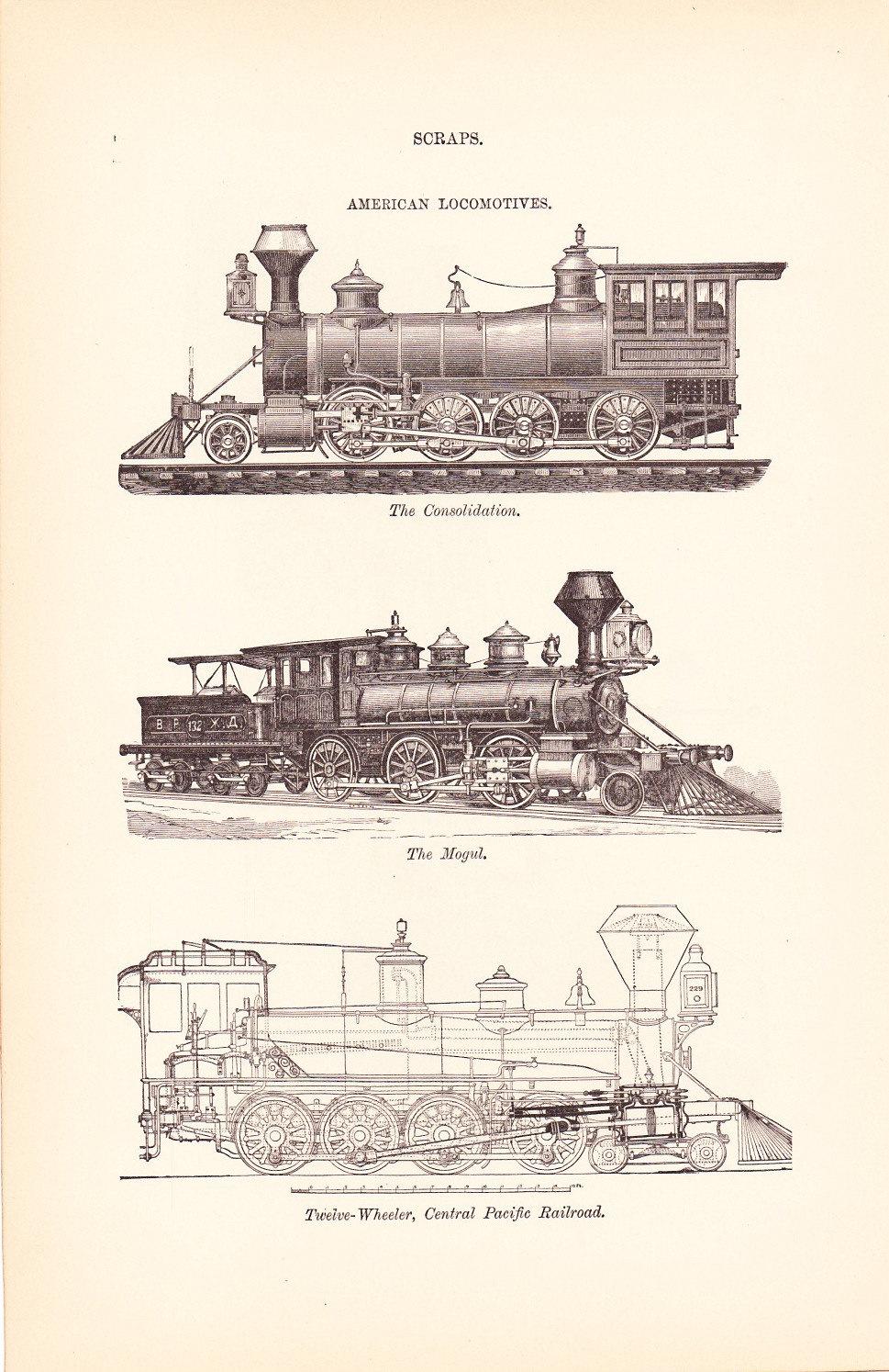 Drawn railroad vintage train Math 1885 Mechanical  Design
