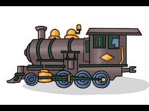 Drawn railroad vintage train How How draw Steam train