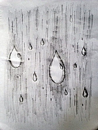 Drawn raindrops rain droplet The are to your drawing