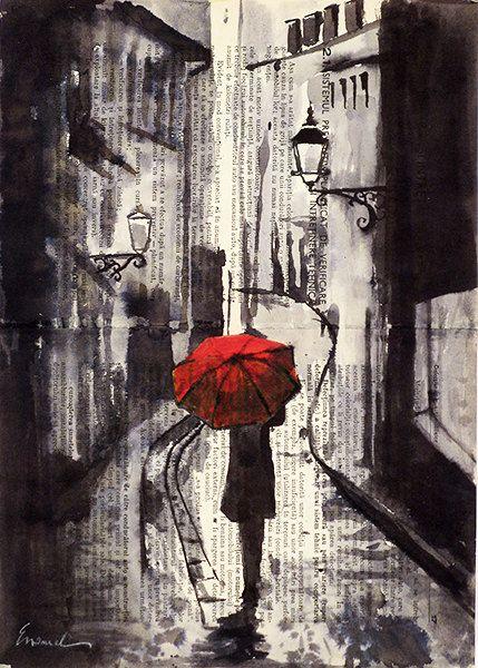 Drawn rain art Autographed Art Street Painting Pinterest
