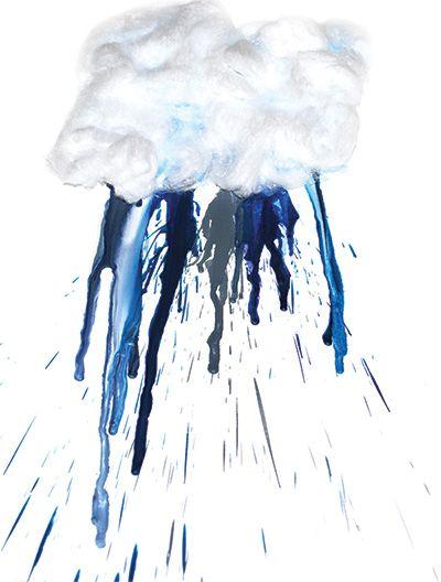 Drawn rain art Make so yucky art Many