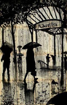 Drawn rain art LOUI KIMMER'S RETRO PERFECT PEN
