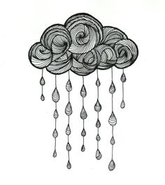 Drawn rain black and white Awesome Find Pin and artistico