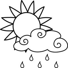 Bright clipart black and white Clouds Suns Stars Clip