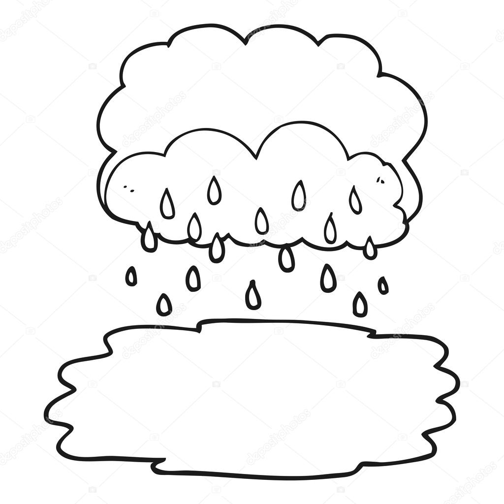 Drawn rain black and white Lineartestpilot Freehand Vector black white
