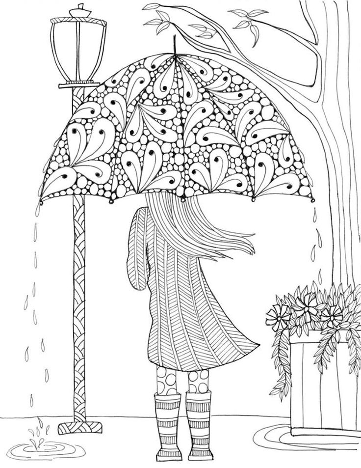 Drawn rain coloring page And Coloring on 490 on