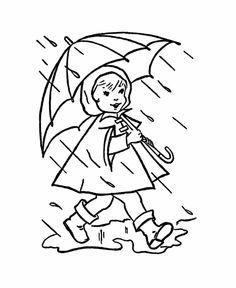 Drawn rain coloring page  pretty vintage Fun Sheets: