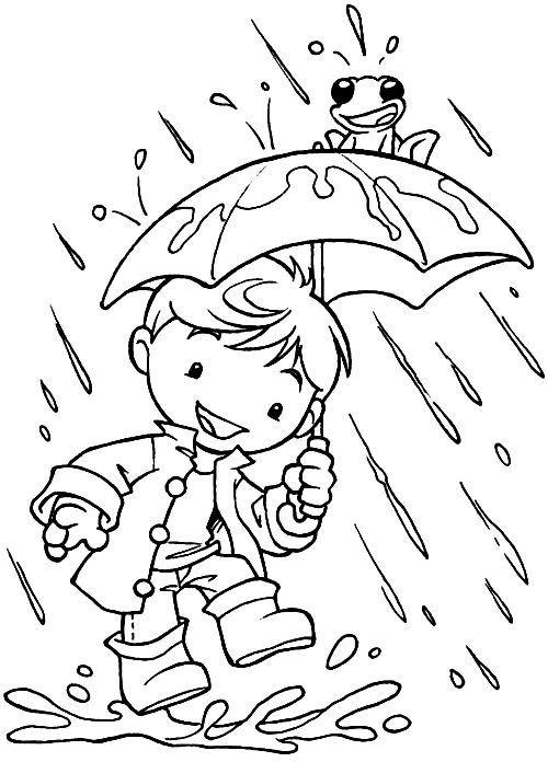 Drawn rain coloring page Rain images pages Coloring in