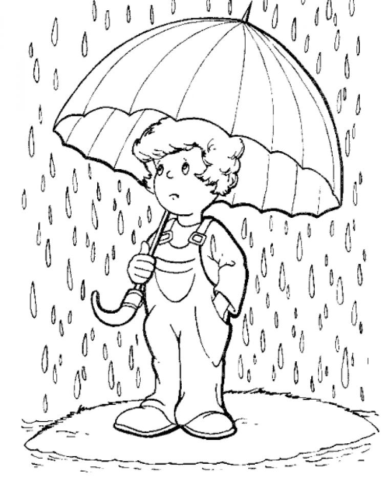 Drawn rain coloring page Rain rain pages coloring coloring