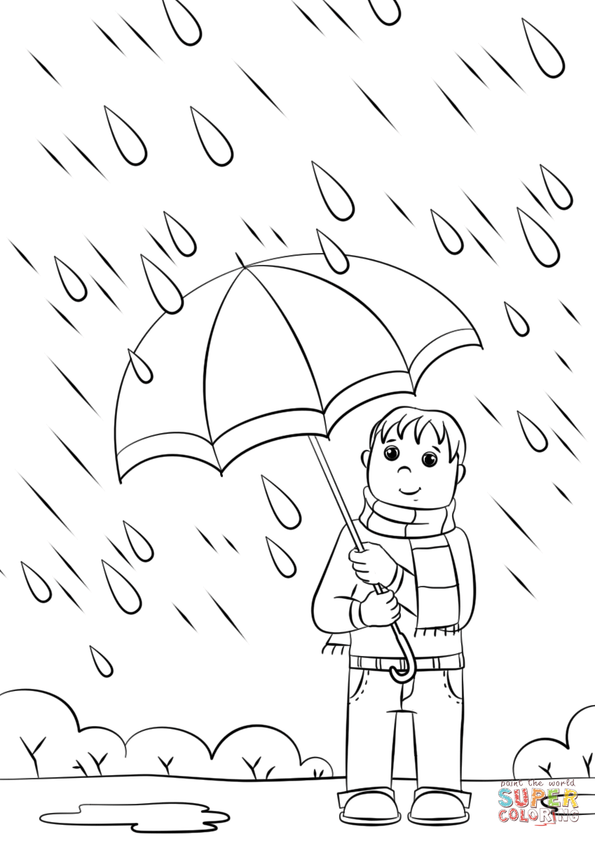 Drawn rain colouring page IPad it Free tablets) coloring