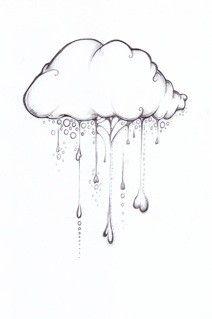 Drawn clouds rain Looks love Cloud only a