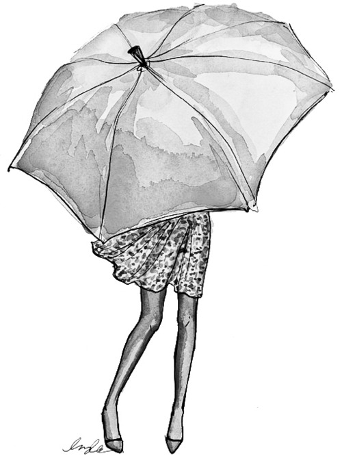 Drawn rain easy And in prints scene everything