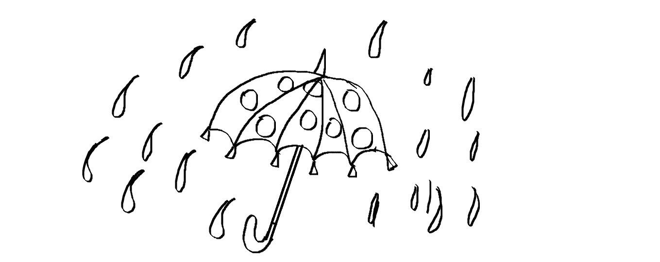Drawn rain easy Umbrella a Cartoon Draw a