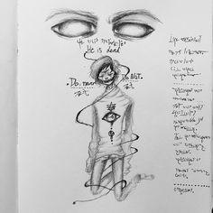 Drawn rain emo #pencil  #emo Elf #pen