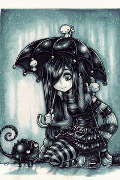 Drawn rain emo  in (print emo the