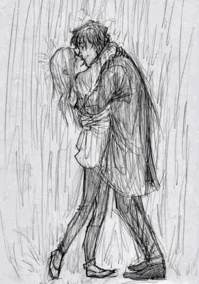 Drawn rain kiss  Kiss com By Boy