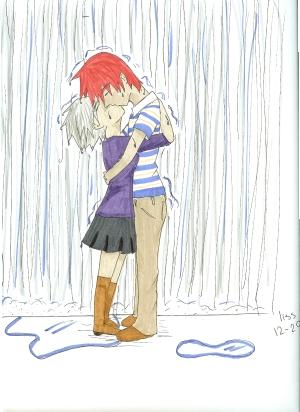 Drawn rain kiss Kiss Rain Kiss DeviantArt on