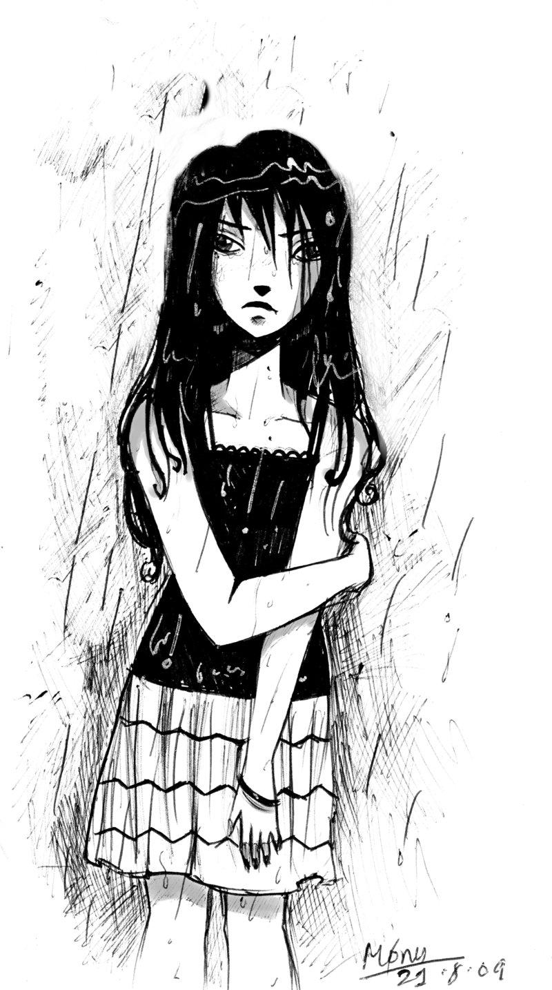 Drawn rain lonely By DeviantArt by in rain