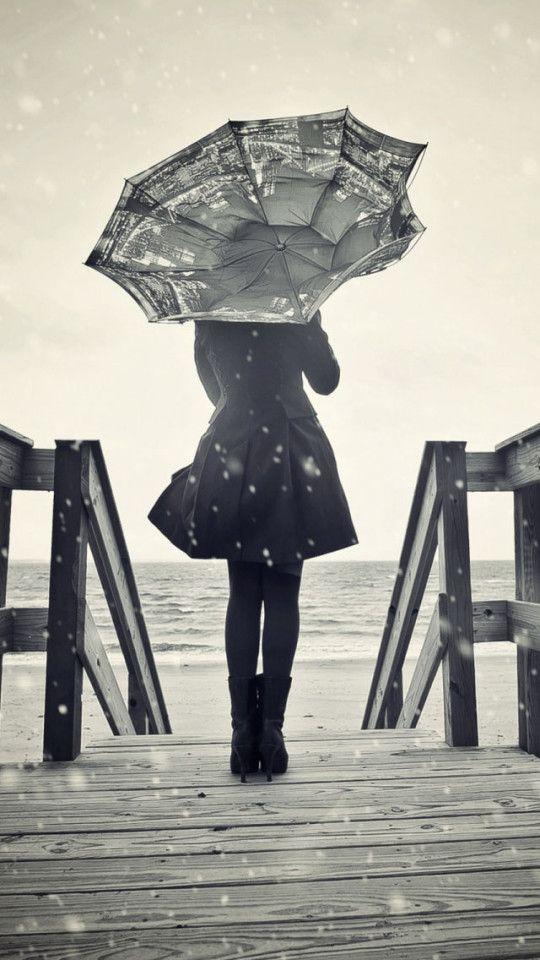 Drawn rain lonely Best on Pinterest Girl images