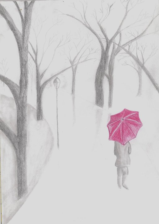 Drawn rain lonely My attempt  first