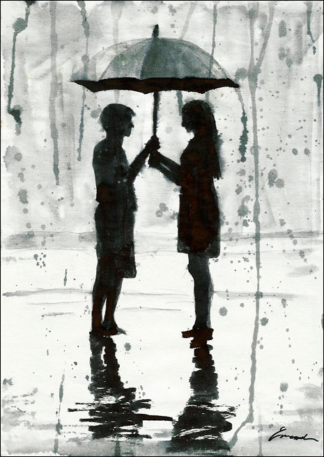 Drawn rain love More by Day Drawing Ink