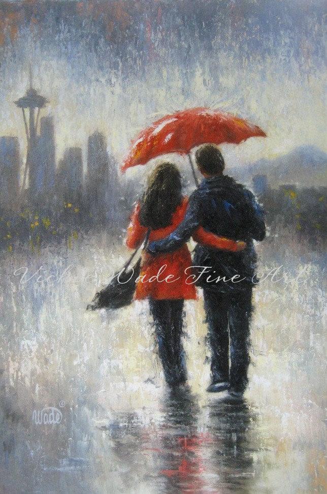 Drawn rain love Love Rain rain couple in