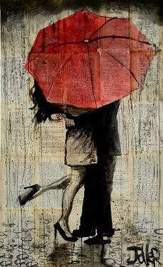 Drawn rain love Pencil Jover and Ink on