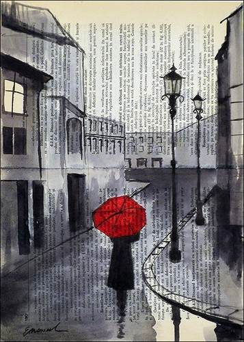 Drawn rain pari Paris on day Paris in