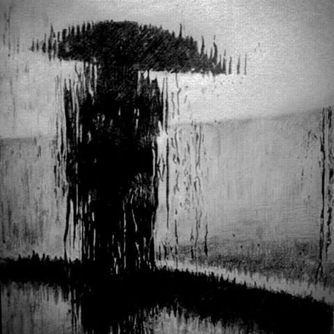 Drawn rain pencil drawing #manojithsketches #art #artist Using Charcoal