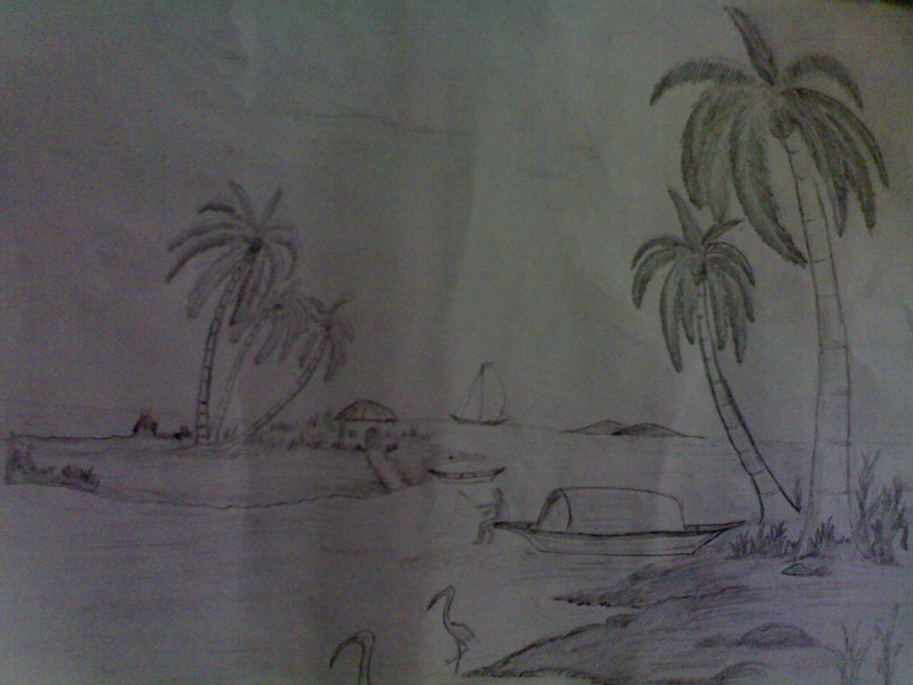 Drawn rain pencil sketch With Rain  Women And