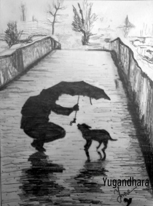 Drawn rain pencil sketch Monsoon Arts pencil Rain sketch