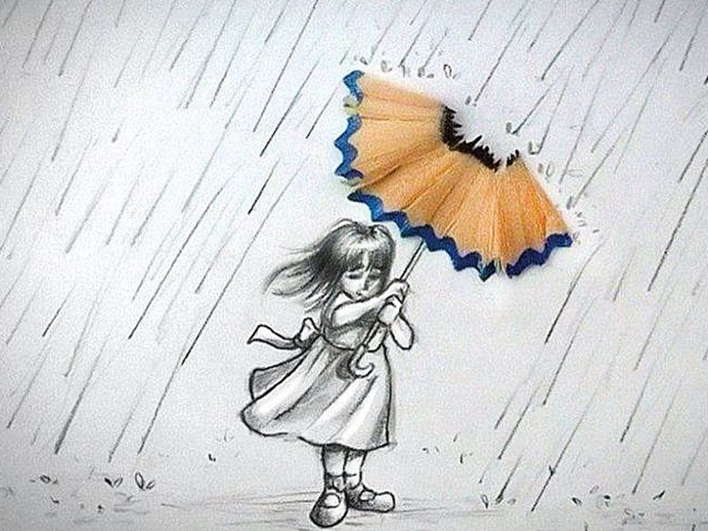 Drawn umbrella Pencil Backgrounds With Wallpapers Of