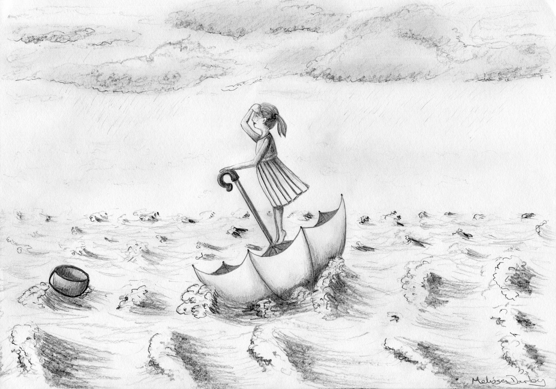 Drawn rain pencil sketch Art Share Darby pencil this: