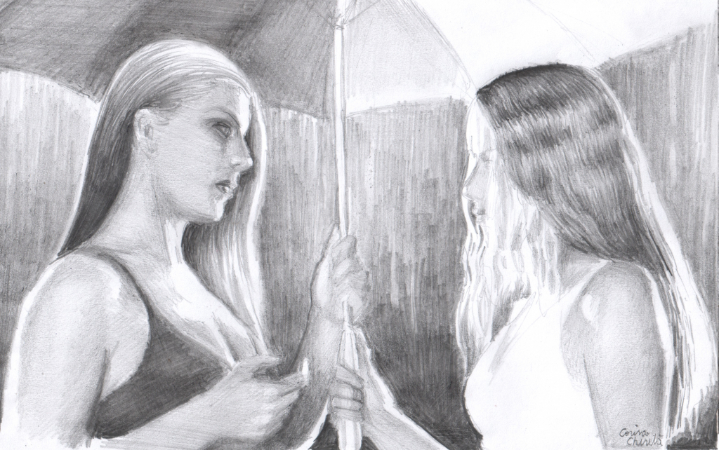 Drawn rain pencil sketch Rain Two Beautiful With Beautiful