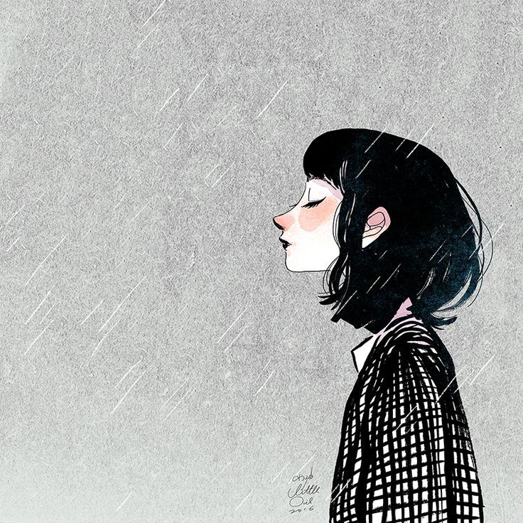 Drawn rain person No lluvia illustration se Pinterest