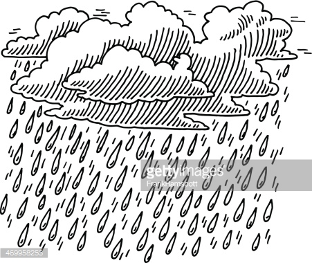 Clouds clipart drawn Rain drawn the : Rain
