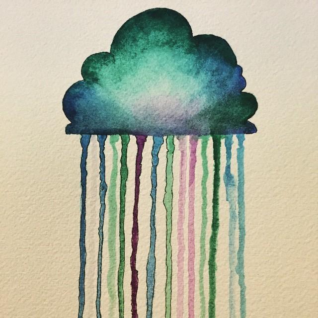 Drawn rain rain cloud Raincloud #cloud #drawing #sketchbook #sketchbook
