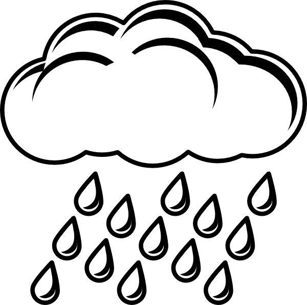 Drawn raindrops printable Download Clker vector image at