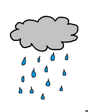 Drawn rain rain cloud Clipart Clipart cloud a drawing