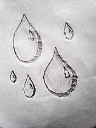 Drawn raindrops rain droplet Also the order doing create