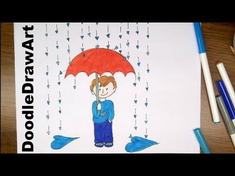 Drawn rain rainy season Make It's Drawing Drawing CAPTION