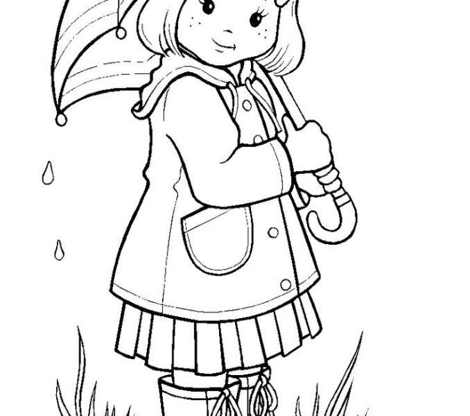 Drawn rain rainy season Rainy Season 10 Kids coloring